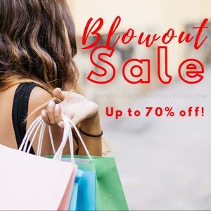 Blowout Sale! Up to 70% off of items!